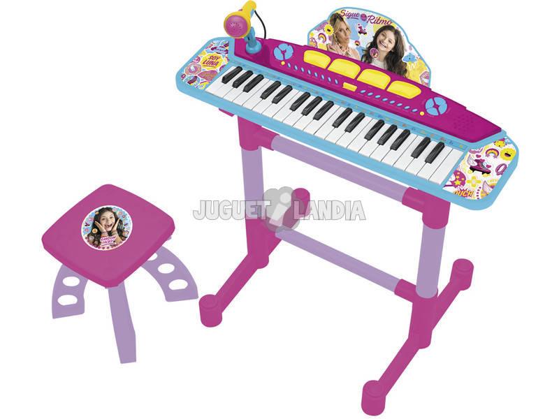 Órgão com Pé e Banqueta Soy Luna