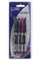 Set 4 Bolígrafos Roller Tinta Líquida