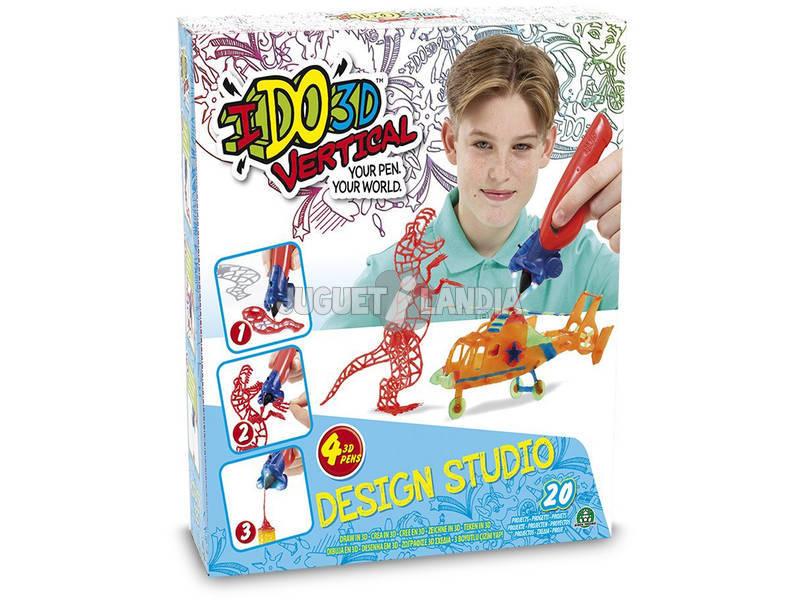 Ido 3D Vertical Design Studio 4 canetas 3D