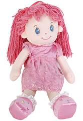 imagen Puppe von Lappen 50 cm.Wollhaar