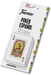 Baraja Poker Espagnol N.211 con 54 Cartes Fournier 28546