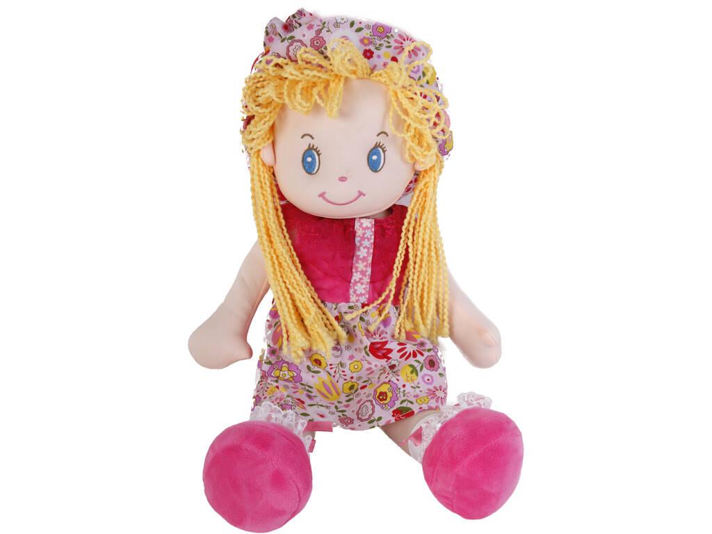 Bambola in tessuto 50 cm capelli biondi