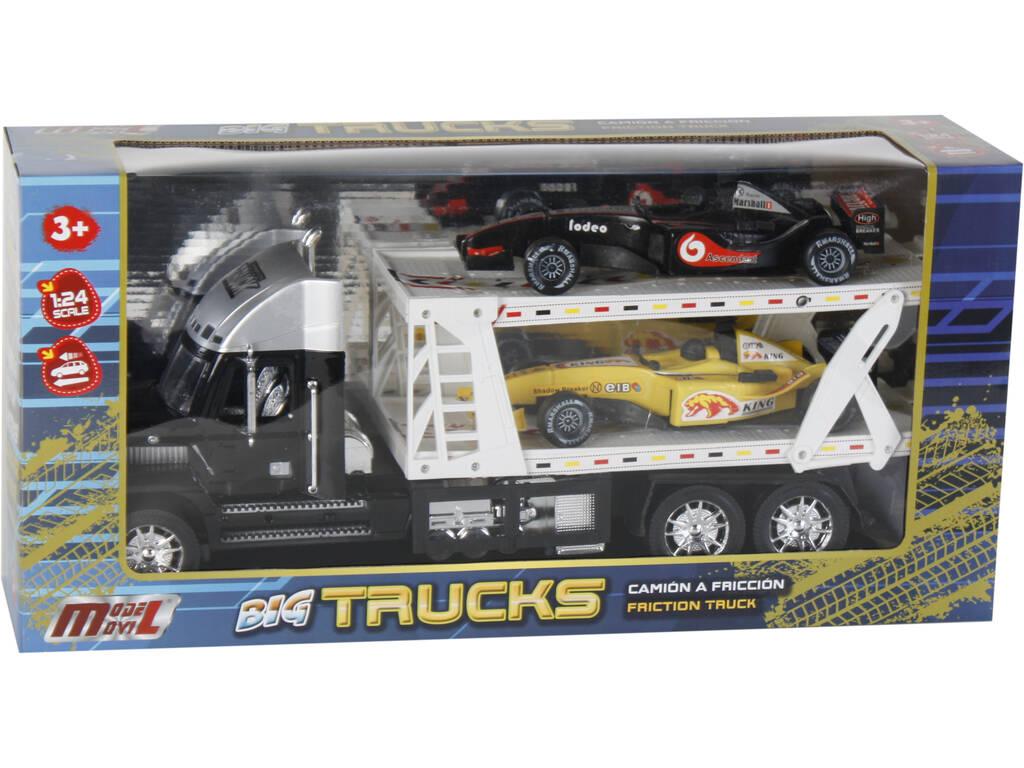 Vehículo Surtido Camión Portacoches Con 2 Formula 1 47x17x12cm