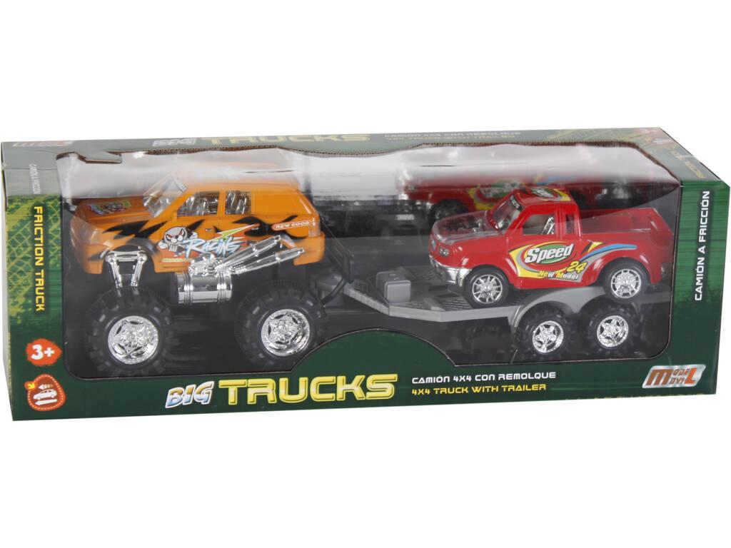 Veículo Sortido Todo Terreno com Reboque e Camionete 52x15x15cm