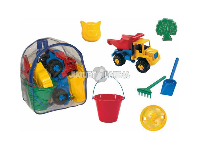 Mochila con camion y accesorios playa