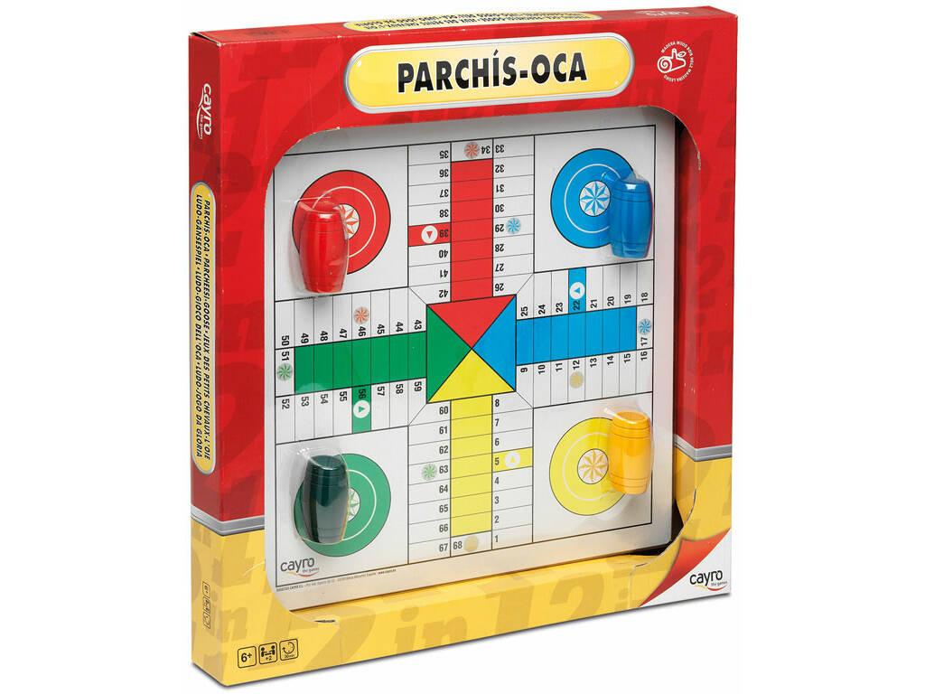 Jogo De Tabuleiro Placa De Madeira Parchís-Oca 33x33 cm Com Acessórios Cayro 097
