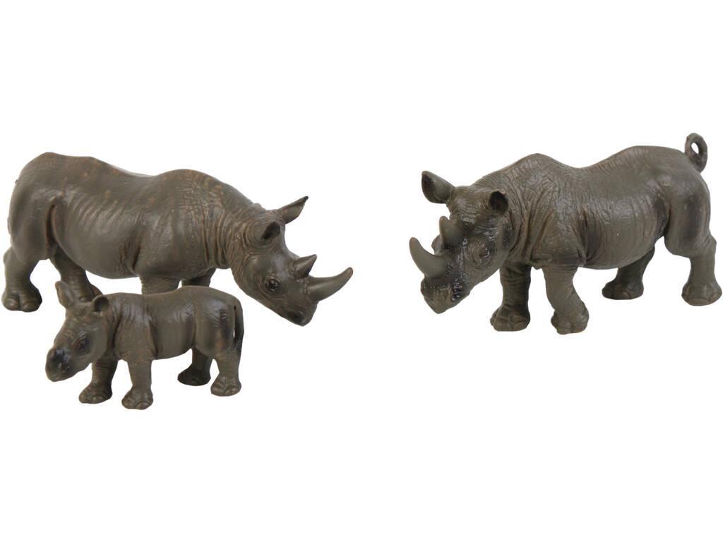 Rinocerontes Set 3 Peças