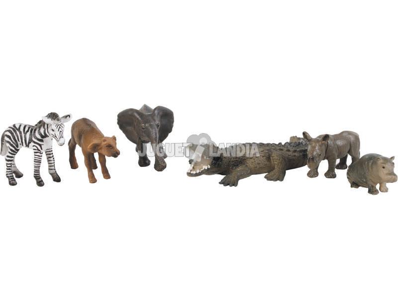 Animais Selvagens 6 Peças