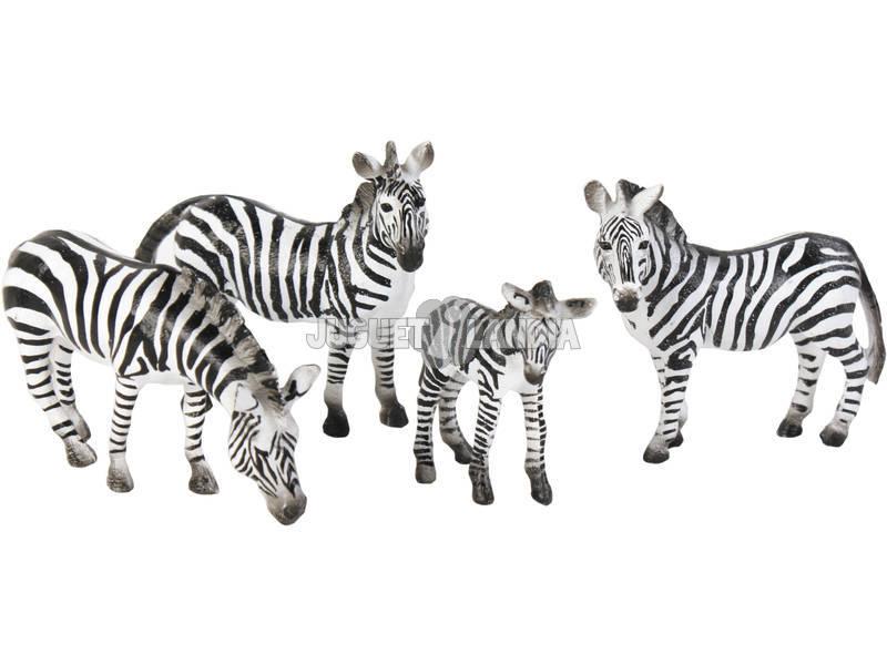 Cebras set 4 piezas