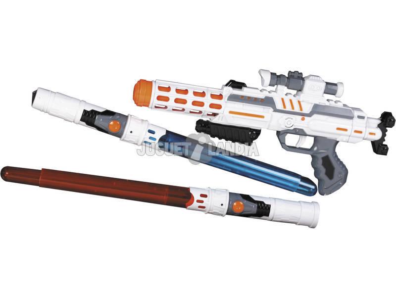 Set Spaziale 2 Spade e Pistola