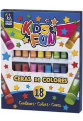 Set 18 Ceras Colores