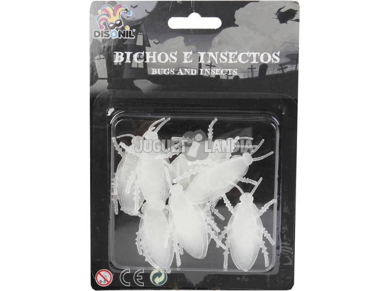 Cucarachas Fosforescentes Set 8 unidades
