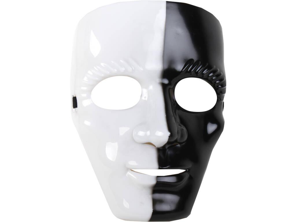 Máscara Blanca y Negra 18x24 cm.