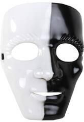 imagen Máscara Blanca y Negra 18x24 cm.