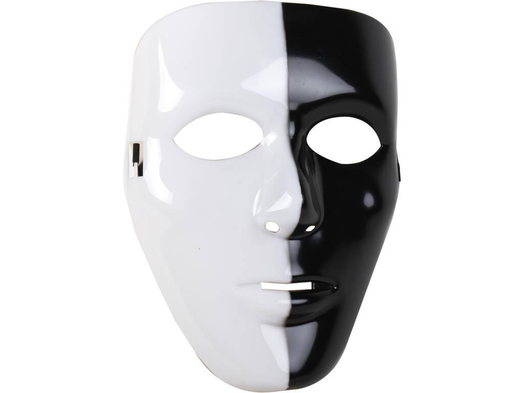 Máscara Blanca y Negra 18x23 cm.
