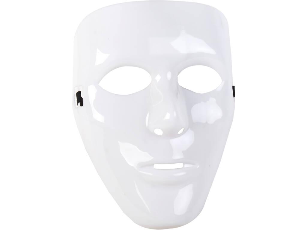 Weiße Maske 18X23 cm.