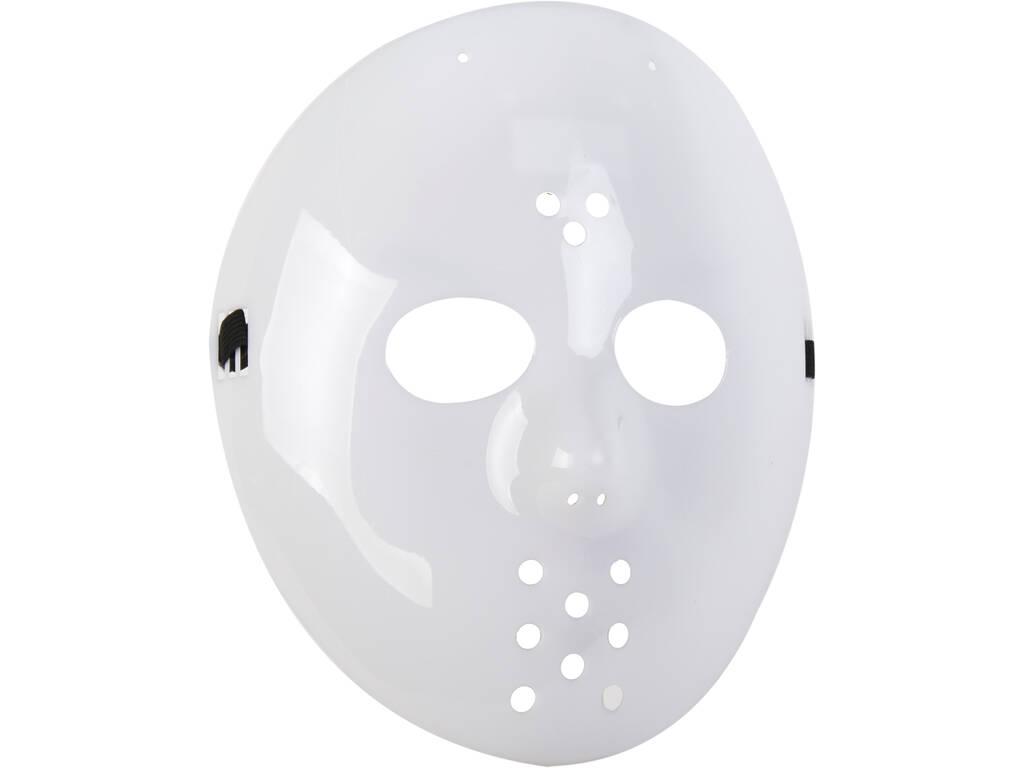 Máscara Blanca Hockey 22X23 cm.