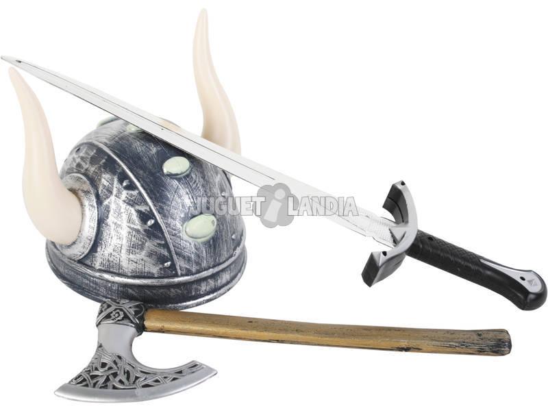 Armas Vikingas Espada con Casco y Hacha