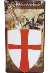 Mittelalterliche Waffen mit Schild und Schwert