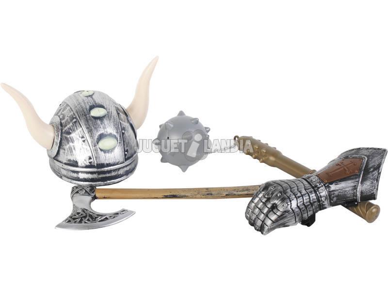 Armas Vikingas Hacha, Maza, Casco y Guantelete