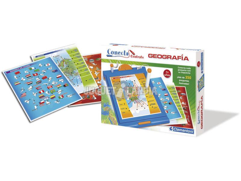 Conecte Geografia de Resposta Mais de 350 perguntas Clementoni 65386