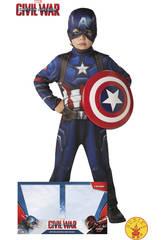 Déguisement Captain América Classic T-S avec Bouclier