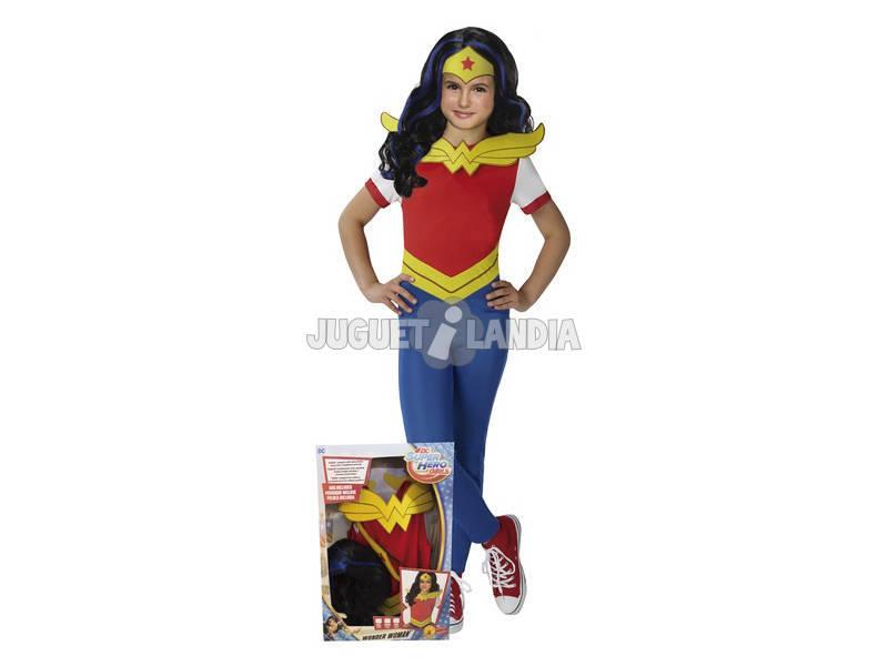 Disfraz Niña Wonder Woman T-XL Con Peluca