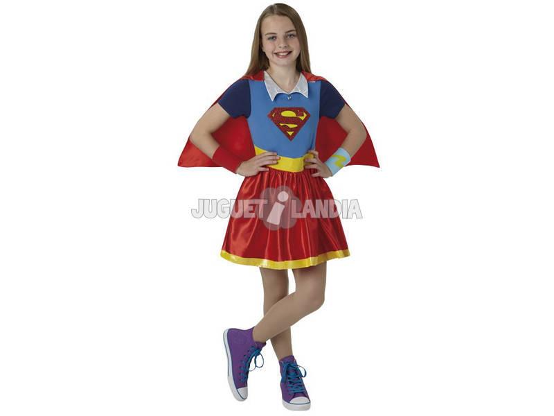 Disfraz Niña Super Girl Deluxe T-L