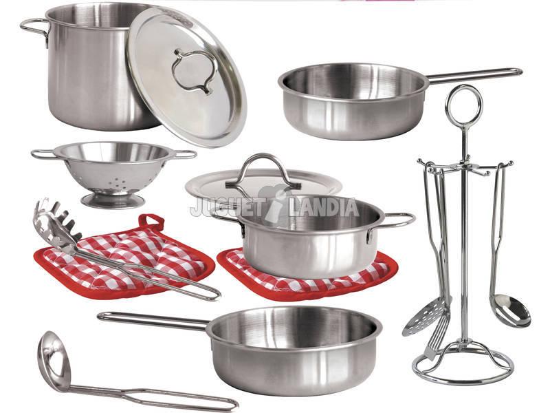 Acheter set cuisine 15 pi ces en acier inoxydable for Cuisine en acier inoxydable