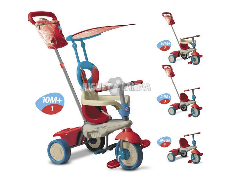 Triciclo Smart Trike Vanilla 4 En 1 Rojo