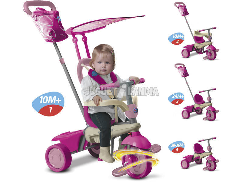 Tricycle Vanille 4 en 1 Rose et beige