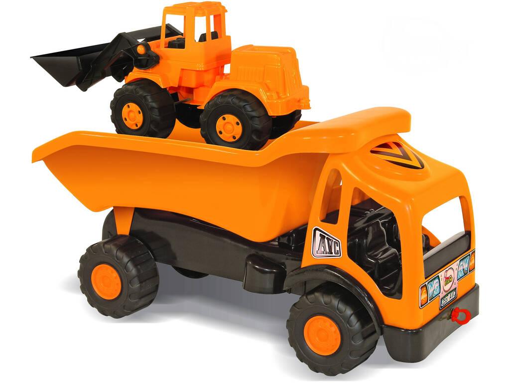 Camión volquete y excavadora de Juguete