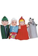 4 Marionetas Dedos Cuentos Infantiles