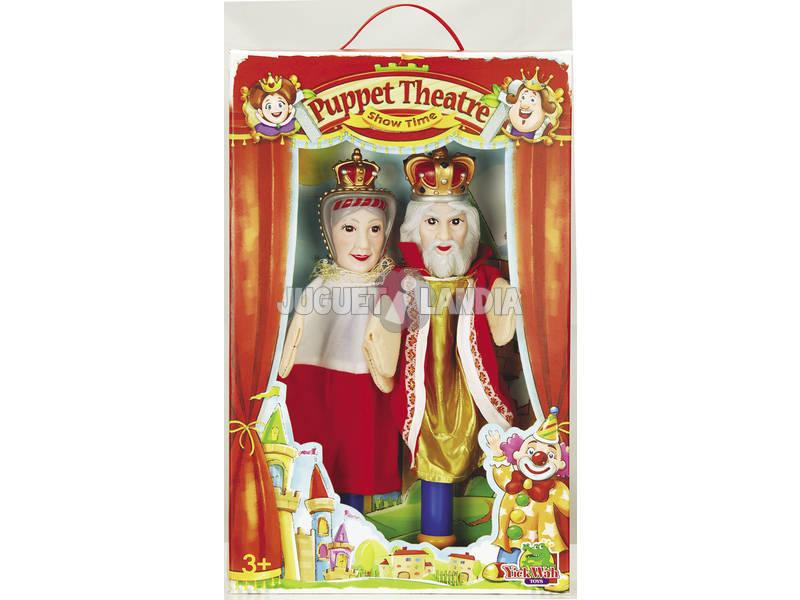 2 Marionette Con Palo + 7 Schede Marionette