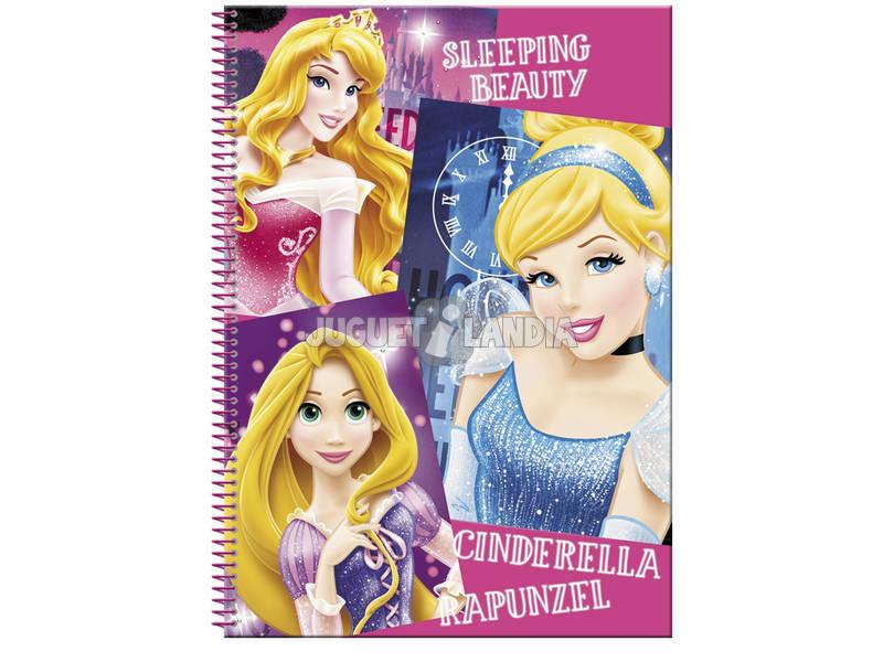 Bloc A4 80 Folhas Princesas Disney