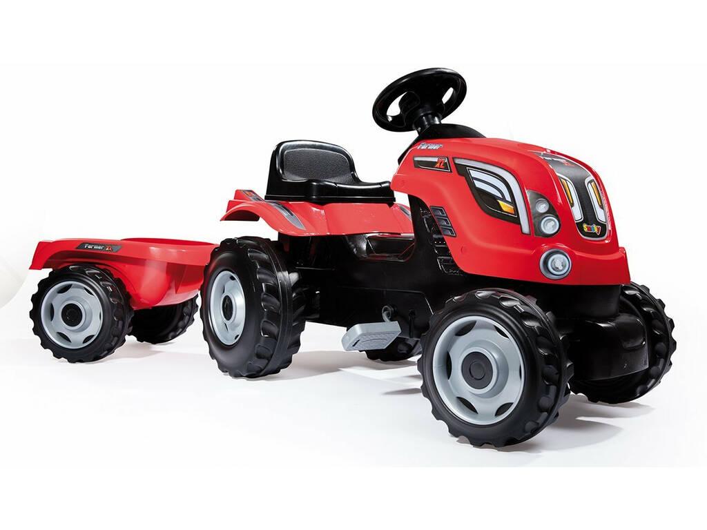 Tractor Farmer XL Vermelho com Reboque
