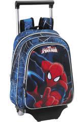 Spiderman Mochila Infantil con Ruedas Go Spidey