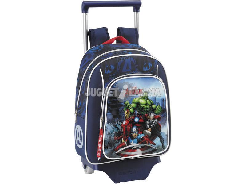 Vingadores montam mochila infantil com rodas. Safta 611634020