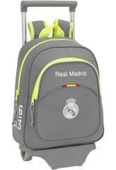 Mochila Infantil con Ruedas Real Madrid Grey