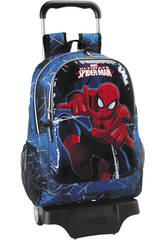 Spiderman Go Spidey Mochila Grande con Ruedas