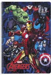 Libreta Folio Tapas Duras 80 h. Avengers