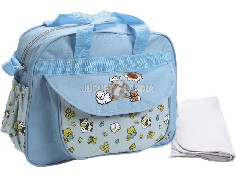 Bolso Bebé Azul Claro Con Cambiador