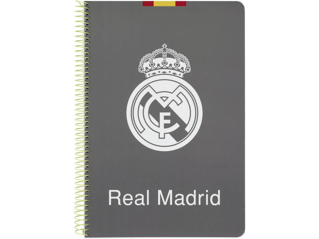Caderno Folha Capas Duras 80 fls. Real Madrid