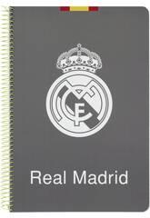 Quaderno a spirale con Copertina rigida 80 fogli Real Madrid