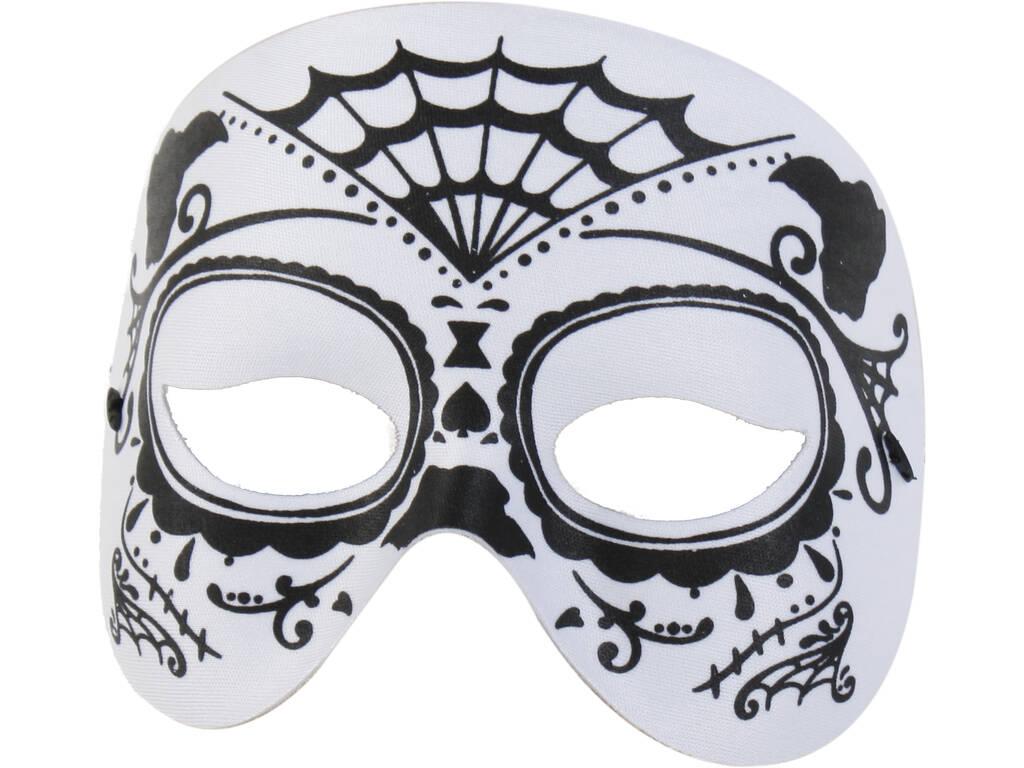 Mascara Media Cara Katrina Blanca Negra