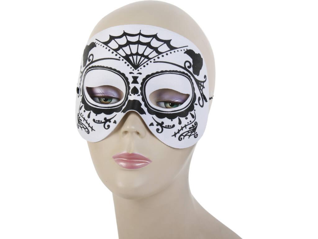 acheter masque demi visage catrina blanc noir juguetilandia. Black Bedroom Furniture Sets. Home Design Ideas