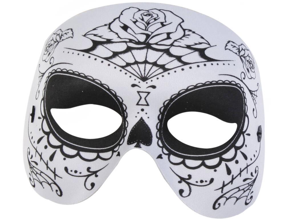 Maschera Mezza Faccia Katrina Bianca e Nera