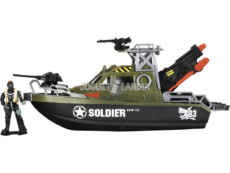 Soldier Force Patrullera con Figura y Accesorios