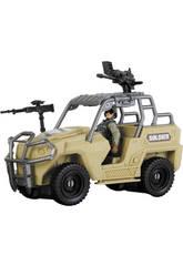 Soldier Force Tanqueta con Figura y Accesorios