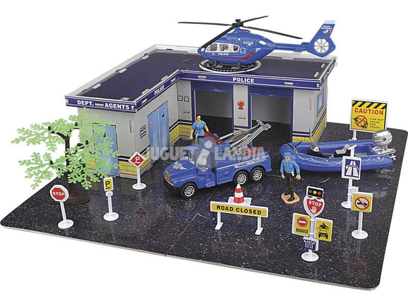 Set Policía con Vehículo 34 Piezas